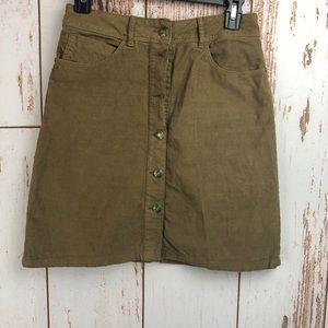 Zara Corduroy button up skirt Small (27)